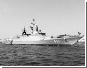 Российский боевой корабль покинул учения из-за пожара