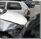 В Киеве женщина за рулем превратила в металлолом четыре автомобиля. ФОТО