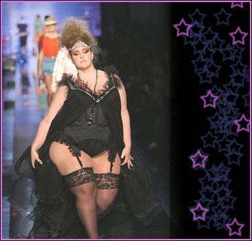 Звезда Жана Поля Готье – модель 132 кг!
