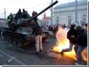 Демонстранты в Будапеште угнали советский Т-34
