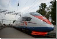 «Сапсан» застрял по пути в Петербург из-за наледи на рельсах