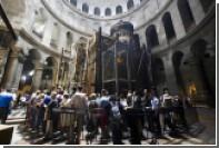 Реставраторы решили прорубить окно в плите над Гробом Господнем