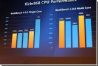 Тестовый смартфон Huawei с чипом Kirin 960 обошел iPhone 7 по производительности в «многоядерном» режиме