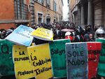 Бунтующие студенты перекрыли центр Рима