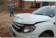 Бегемот напал на автомобиль в ЮАР