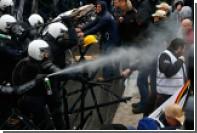 Бельгийская полиция попыталась разогнать демонстрацию военных слезоточивым газом