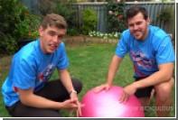 Падение «водяной бомбы» показали на видео