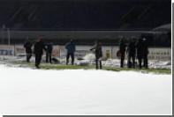 Болельщики «Шинника» и заммэра Ярославля очистили поле от снега перед матчем ФНЛ