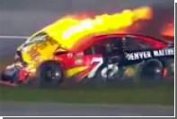 Появилось видео с загоревшимся во время финала NASCAR автомобилем