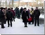 Около 1000 работников ЛАЗа пикетировали сессию Львовского областного совета