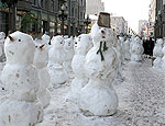 Чешские снеговики за младенца Христа и против Санта-Клауса
