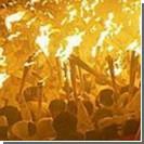 В Ялте устроили факельное шествие в честь Сталина
