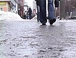 В Тирасполе гололед стал причиной травм пешеходов