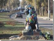 В Луганске уничтожили скульптуру льва, подаренного Львовом