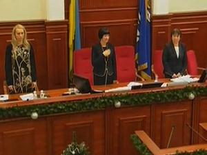 """На закрытии сессии Киевсовета """"заело"""" гимн Украины (ВИДЕО)"""