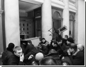 Националисты напали на Одесский горсовет