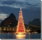 Рио-де-Жанейро: пляжи с туристами и самая большая в мире плавучая ёлка