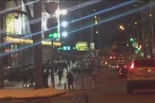 Турецкие и украинские футбольные фанаты устроили массовую драку в Киеве